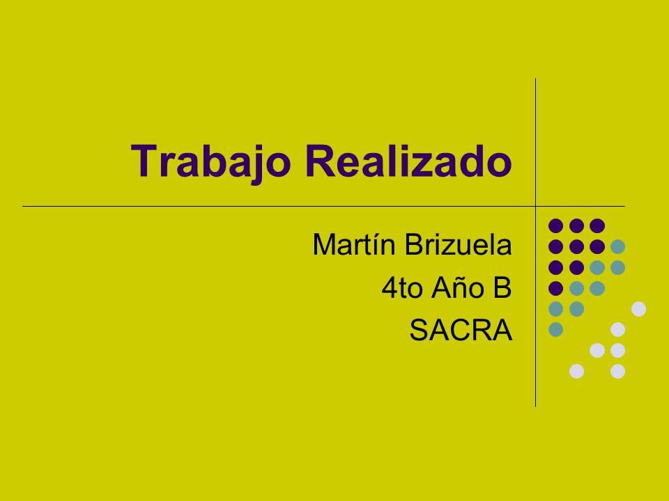 Trabajo Realizado Martín Brizuela 4to Año B SACRA