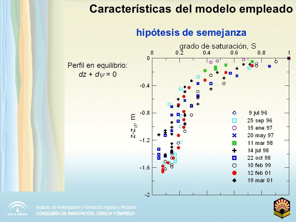 Modelo de Brooks y Corey Características del modelo empleado