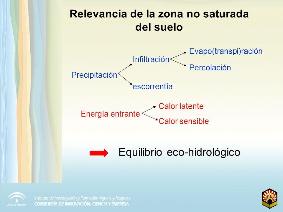 Modelos para describir la circulación del agua en la zona no saturada Basados en la ec.