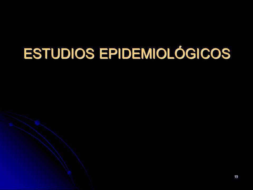 19 ESTUDIOS EPIDEMIOLÓGICOS