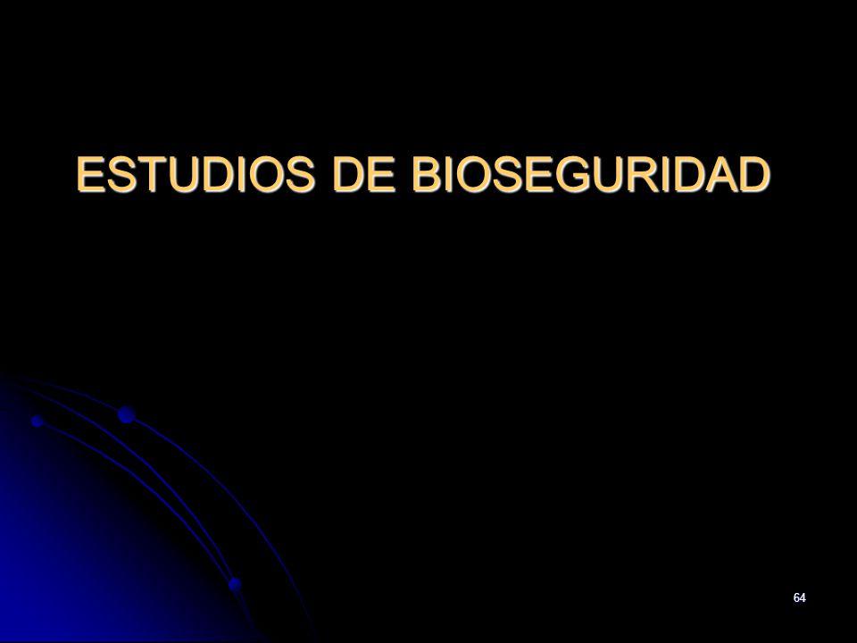 64 ESTUDIOS DE BIOSEGURIDAD