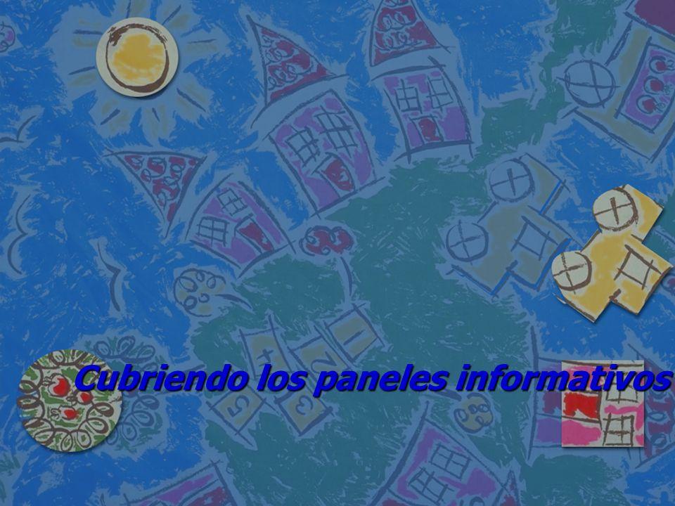 Cubriendo los paneles informativos