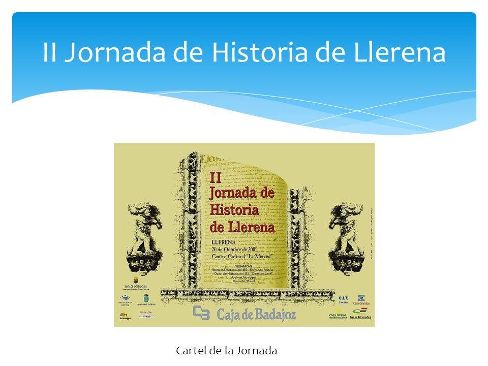 II Jornada de Historia de Llerena Cartel de la Jornada
