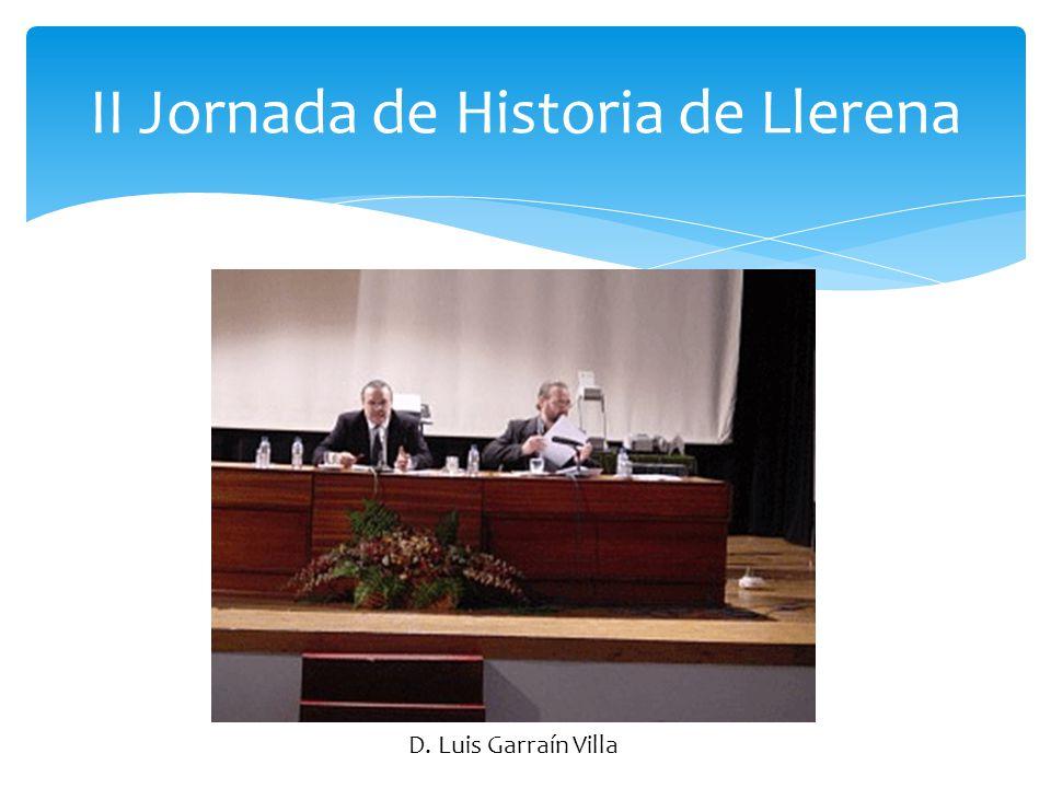 II Jornada de Historia de Llerena D. Alfonso Gutiérrez Barba