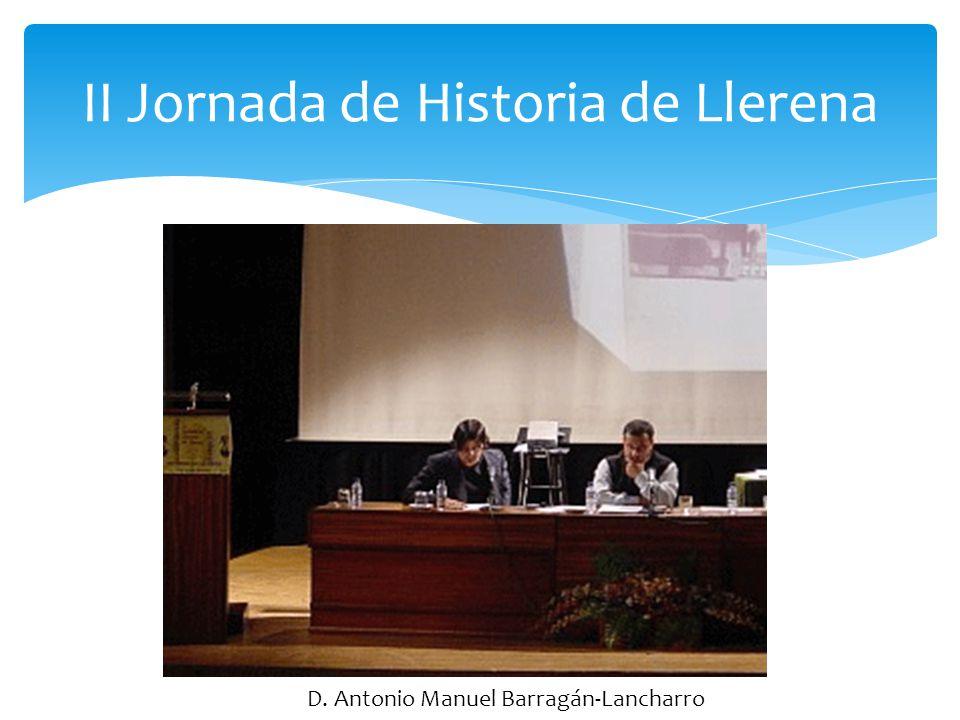 II Jornada de Historia de Llerena D. Salvador Hernández González