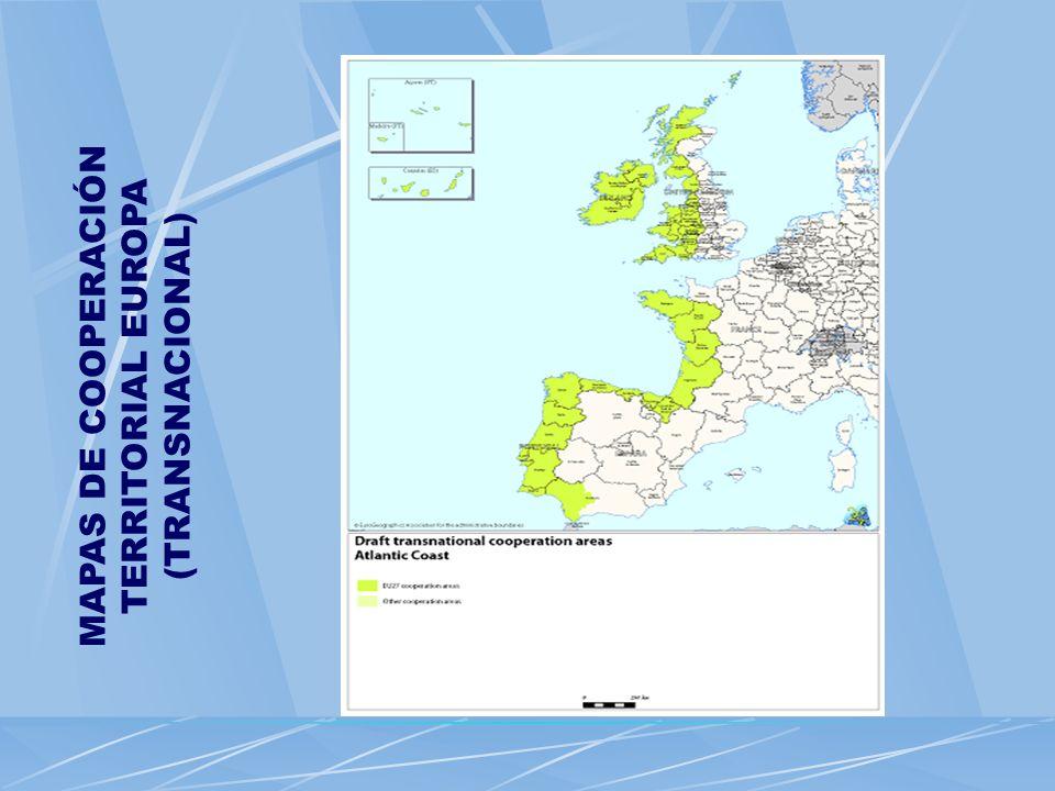 MAPAS DE COOPERACIÓN TERRITORIAL EUROPA (TRANSNACIONAL)