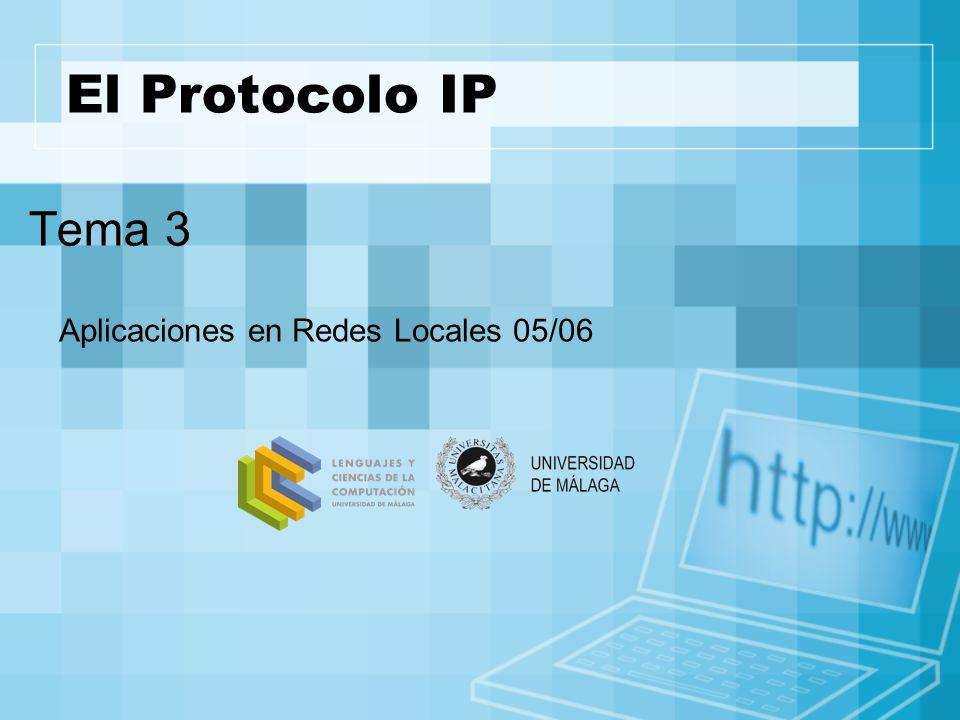 El Protocolo IP Tema 3 Aplicaciones en Redes Locales 05/06