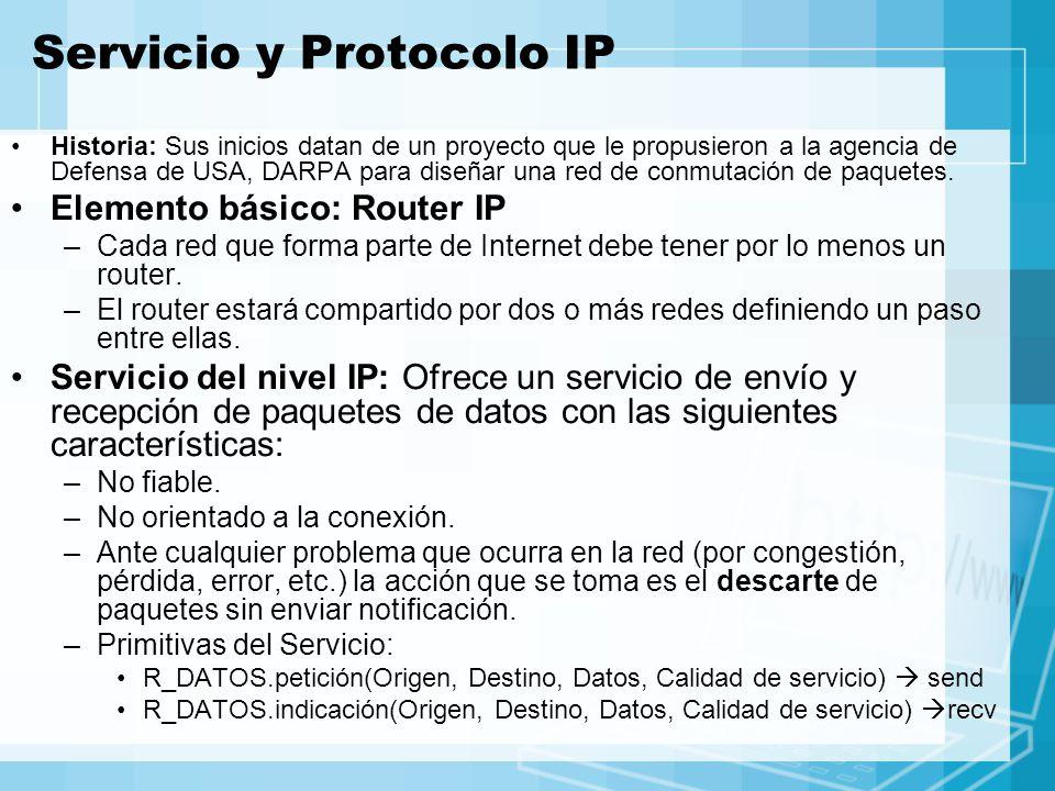 Servicio y Protocolo IP Historia: Sus inicios datan de un proyecto que le propusieron a la agencia de Defensa de USA, DARPA para diseñar una red de co