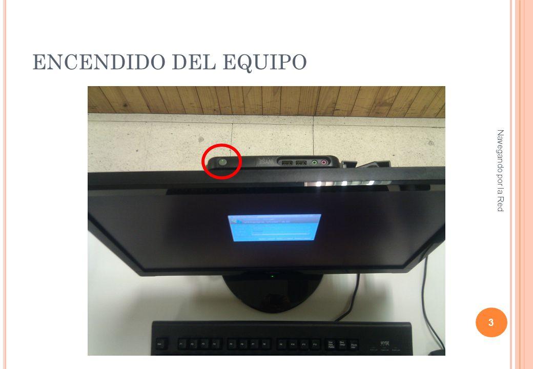 ENCENDIDO DEL MONITOR (SI NO SE HA ENCENDIDO) Navegando por la Red 4