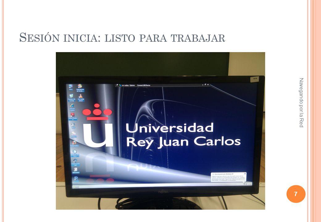 A BRIR PÁGINA WEB DE LA ASIGNATURA Navegando por la Red 8 http://www.ia.urjc.es/grupo/docencia/nr