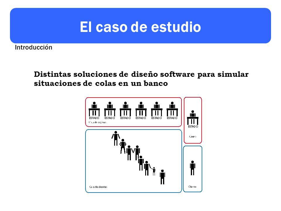 El caso de estudio Distintas soluciones de diseño software para simular situaciones de colas en un banco Introducción