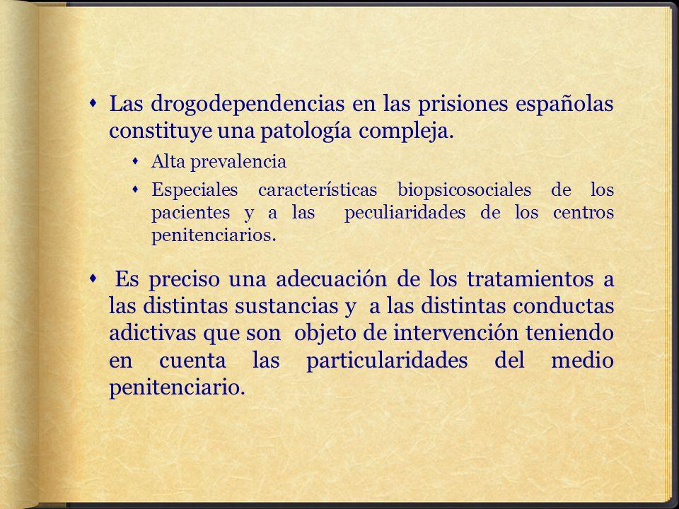 Las drogodependencias en las prisiones españolas constituye una patología compleja.