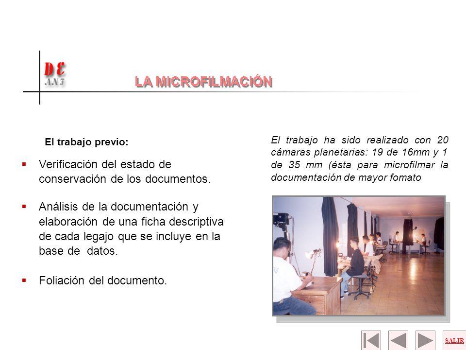 El trabajo previo: Verificación del estado de conservación de los documentos. Análisis de la documentación y elaboración de una ficha descriptiva de c