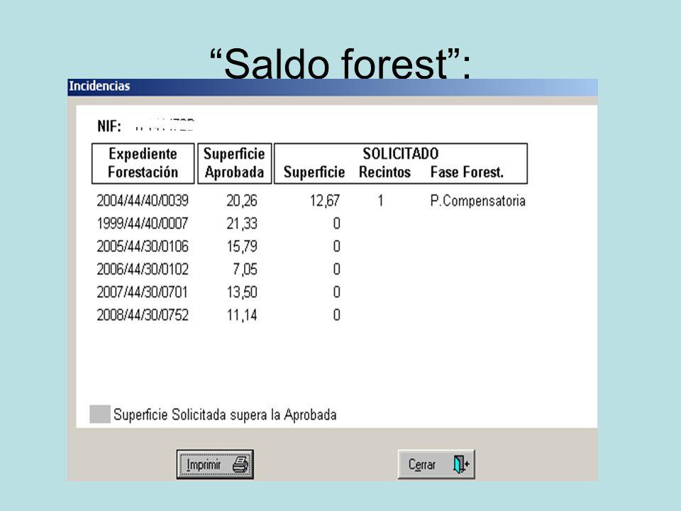 Saldo forest: