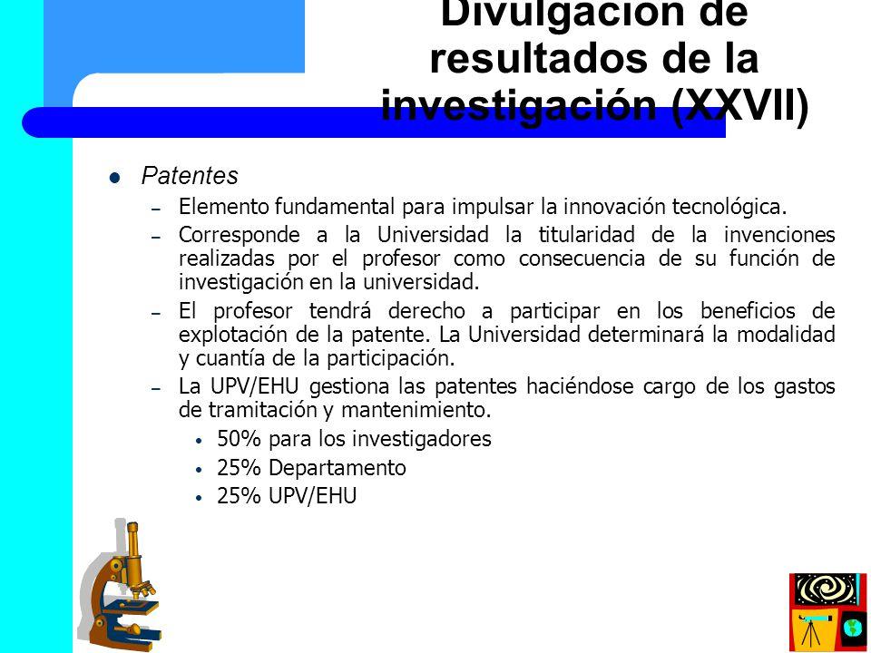 Patentes – Elemento fundamental para impulsar la innovación tecnológica. – Corresponde a la Universidad la titularidad de la invenciones realizadas po