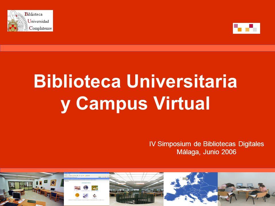 Comunicación incluida en el tema la biblioteca digital en el Aula Virtual, del IV Simposium de Bibliotecas Digitales Presenta la conexión del entorno virtual para el aprendizaje, WebCT, con la biblioteca digital de la Universidad Complutense de Madrid (UCM) Experiencia desarrollada por la biblioteca de la Facultad de Ciencias Económicas y Empresariales (CCEE)