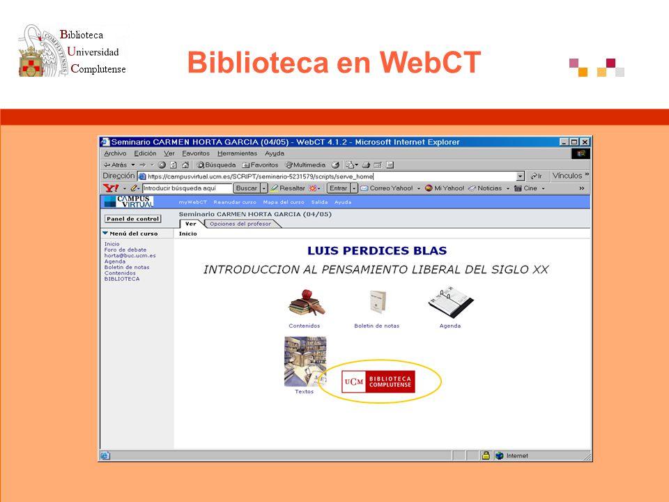 Biblioteca en WebCT