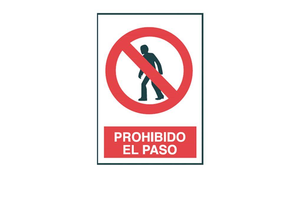 Se lee: prohibido el paso a personas