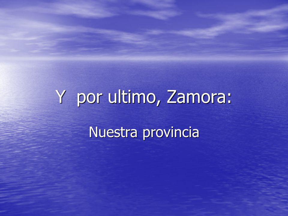 Y por ultimo, Zamora: Nuestra provincia
