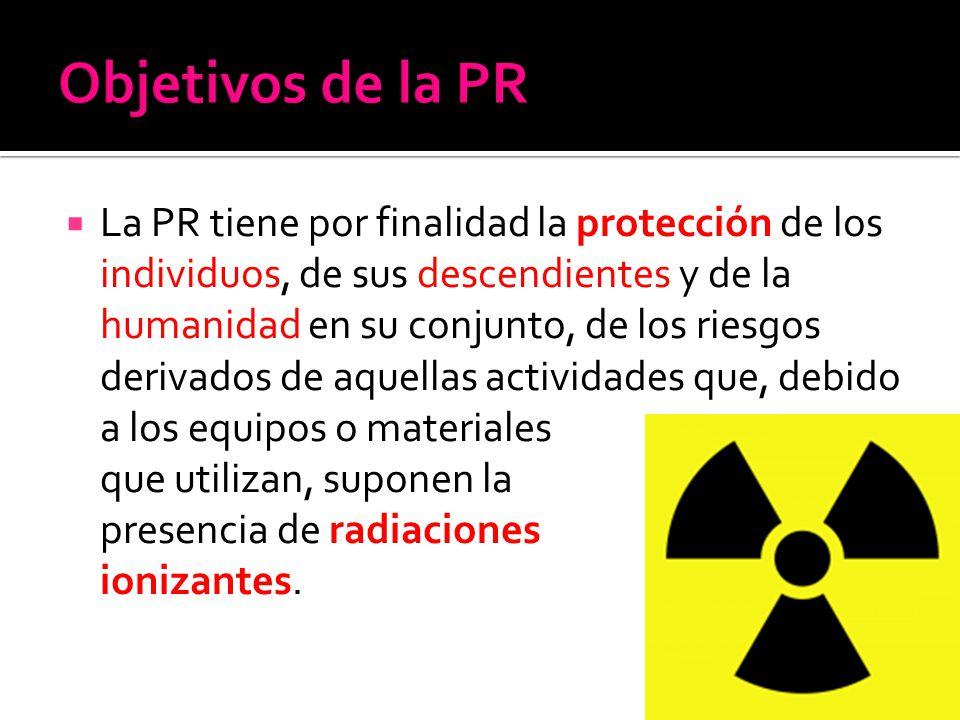 La PR tiene por finalidad la protección de los individuos, de sus descendientes y de la humanidad en su conjunto, de los riesgos derivados de aquellas