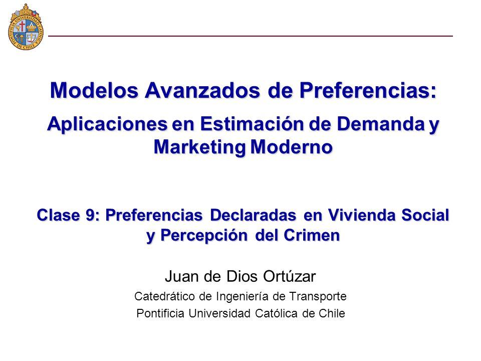 Modelos Avanzados de Preferencias: Aplicaciones en Estimación de Demanda y Marketing Moderno Clase 9: Preferencias Declaradas en Vivienda Social y Per