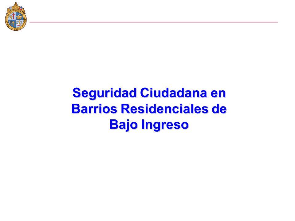 Seguridad Ciudadana en Barrios Residenciales de Bajo Ingreso