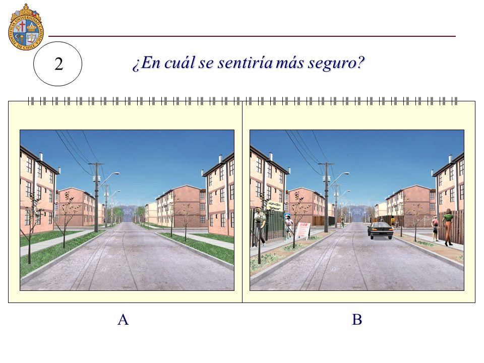 AB 2 ¿En cuál se sentiría más seguro? ¿En cuál se sentiría más seguro?