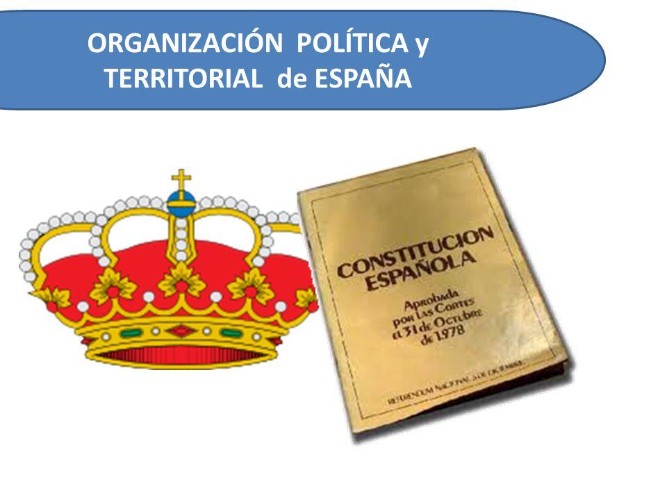 ORGANIZACIÓN TERRITORIAL de ESPAÑA España se divide en 17 Comunidades autónomas y 2 ciudades autónomas