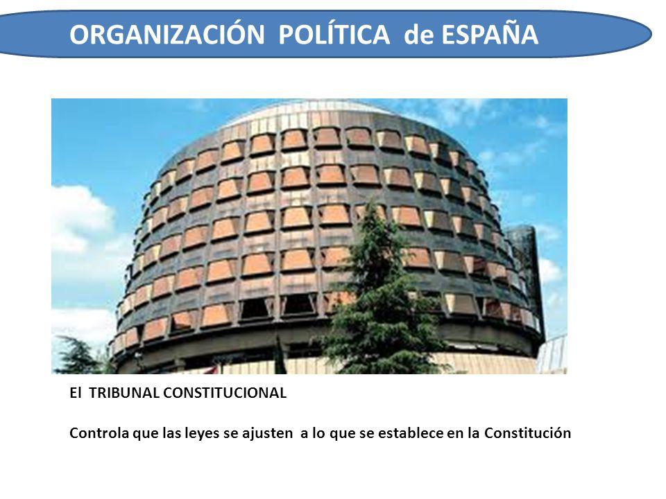 ORGANIZACIÓN POLÍTICA de ESPAÑA ESPAÑA ES UNA MONARQUÍA PARLAMENTARIA ESTADO MONÁRQUICO El Monarca tiene el titulo de REY DE ESPAÑA La Monarquía es vitalicia y hereditaria El Rey asume funciones de representación del Estado pero no gobierna ESTADO DEMOCRÁTICO La Democracias es el sistema político del Estado español.