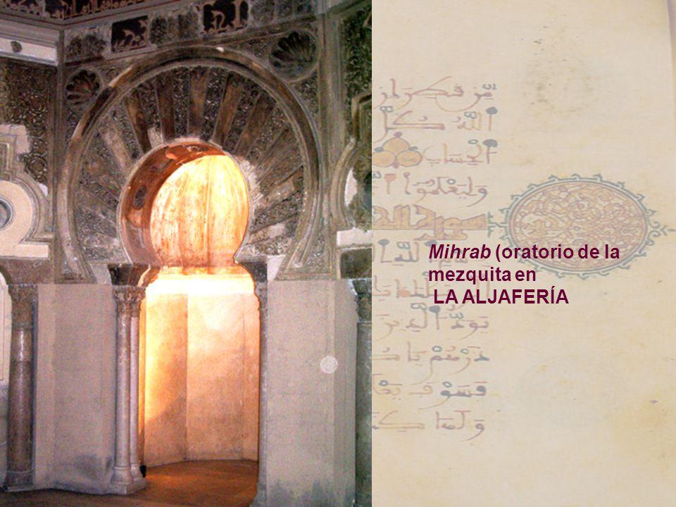 Mihrab (oratorio de la mezquita en LA ALJAFERÍA
