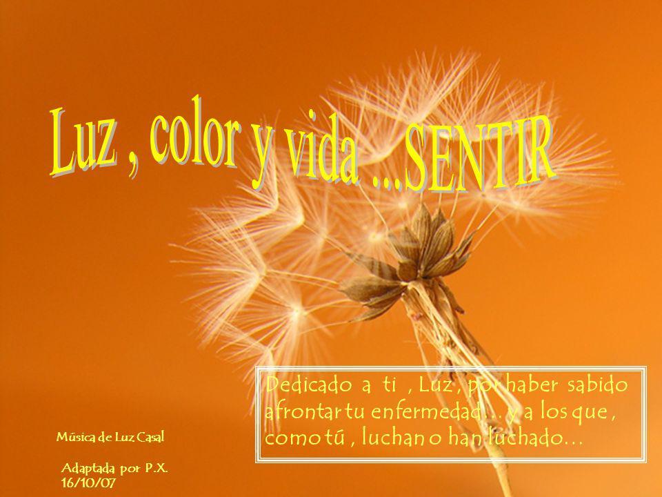 Música de Luz Casal Adaptada por P.X. 16/10/07 Deja pasar …escucha y RELÁJATE