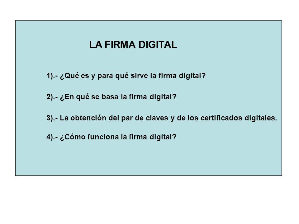 1).- ¿Qué es y para qué sirve la firma digital.