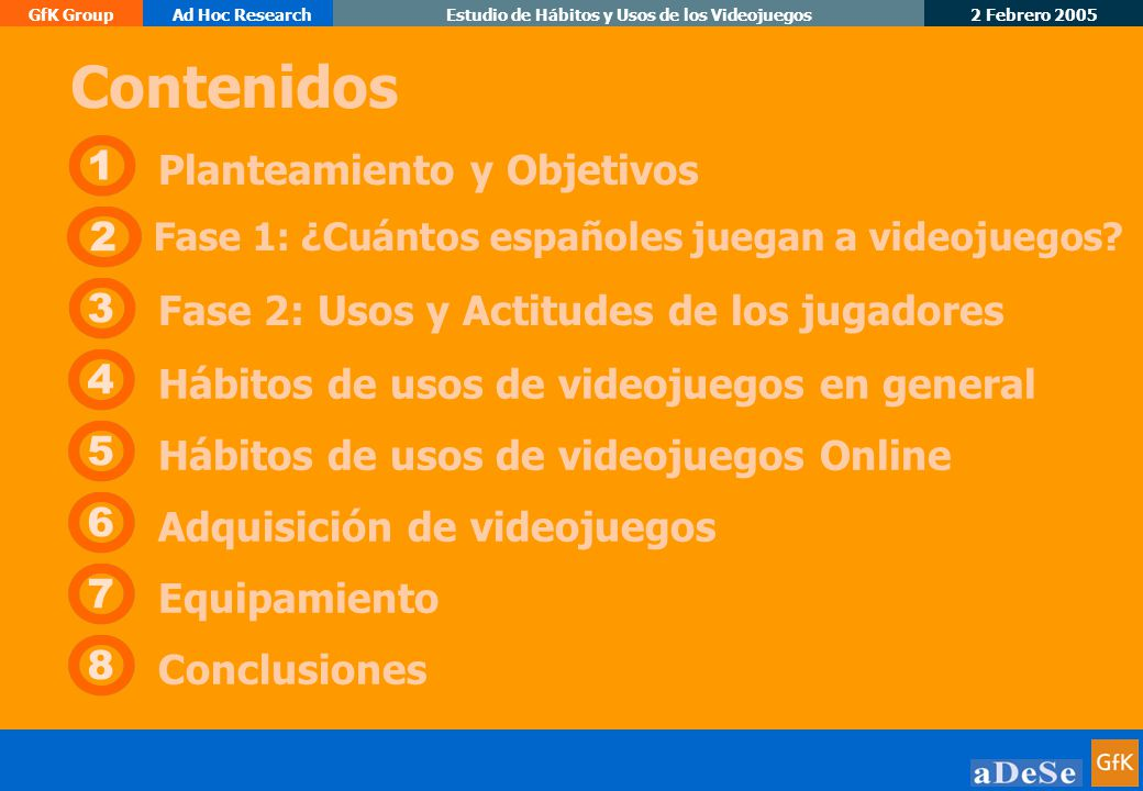 2 Febrero 2005 GfK GroupAd Hoc ResearchEstudio de Hábitos y Usos de los Videojuegos 33 Origen de los videojuegos que tiene en casa Unidad: Porcentajes Base: Tienen Juegos en casa (n=589); PC (n=289); Consola (n=300) P.35.
