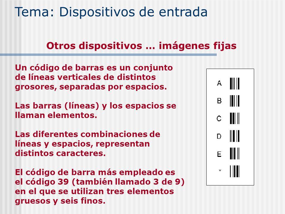 Un código de barras es un conjunto de líneas verticales de distintos grosores, separadas por espacios. Las barras (líneas) y los espacios se llaman el