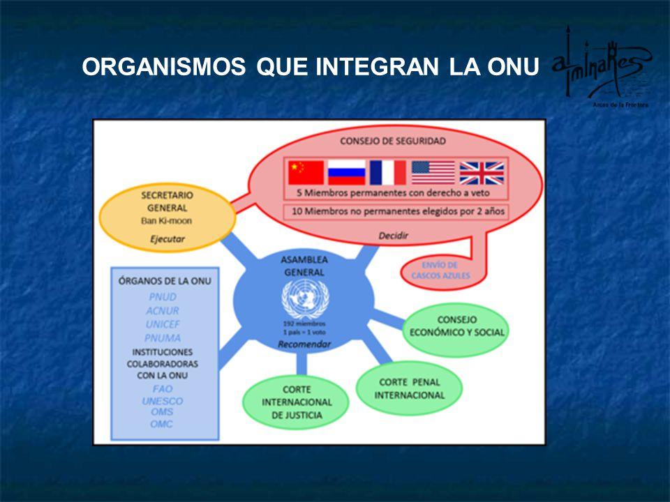 ASAMBLEA GENERAL Es una asamblea o especie de parlamen- to de los países componentes.