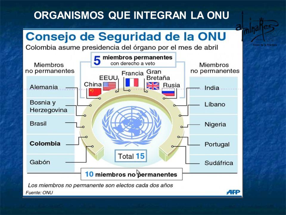 ORGANISMOS QUE INTEGRAN LA ONU