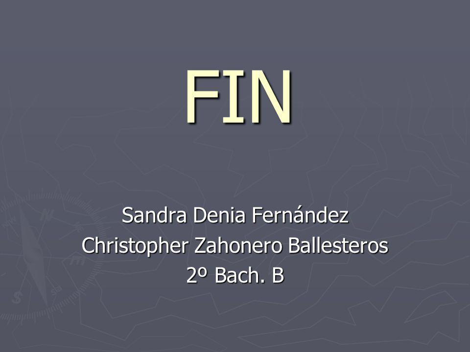 FIN Sandra Denia Fernández Christopher Zahonero Ballesteros 2º Bach. B