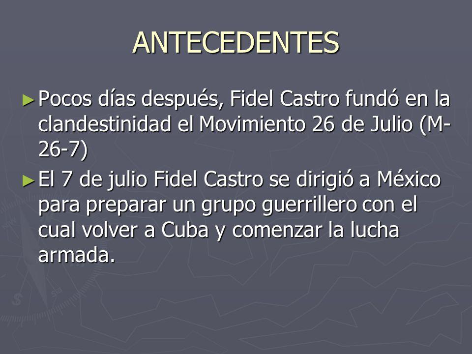 Bandera del Movimiento 26 de Julio creado en 1955 por un grupo de nacionalistas cubanos entre los que se destacaba Fidel Castro.