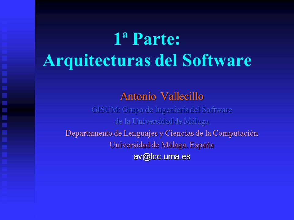 Antonio Vallecillo GISUM: Grupo de Ingeniería del Software de la Universidad de Málaga Departamento de Lenguajes y Ciencias de la Computación Universi