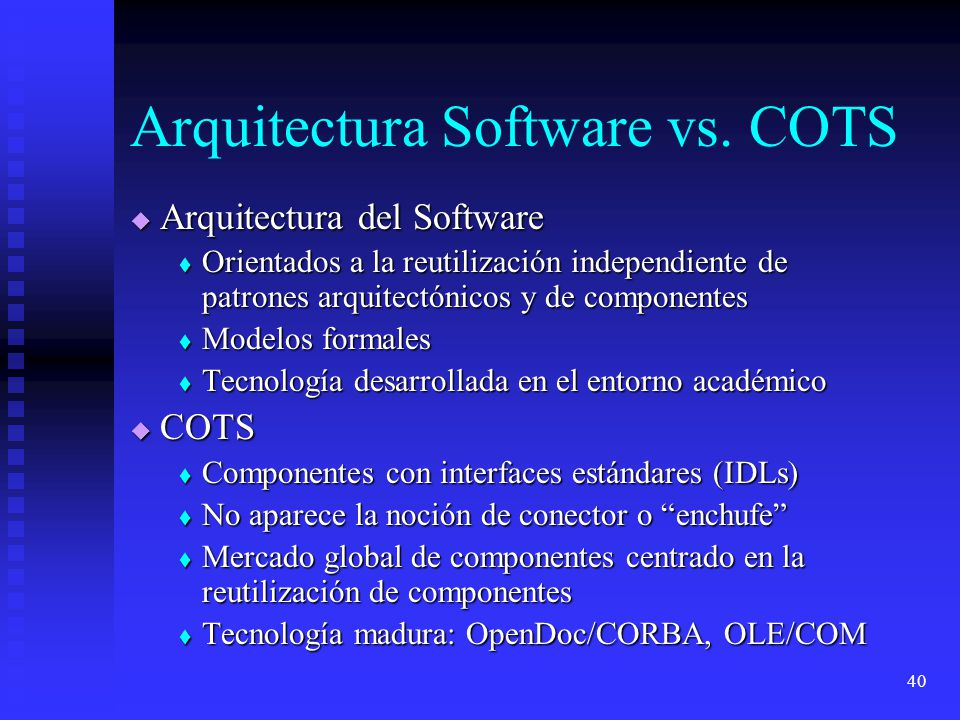 40 Arquitectura Software vs.