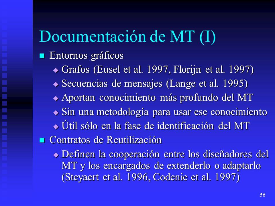 56 Documentación de MT (I) Entornos gráficos Entornos gráficos Grafos (Eusel et al.