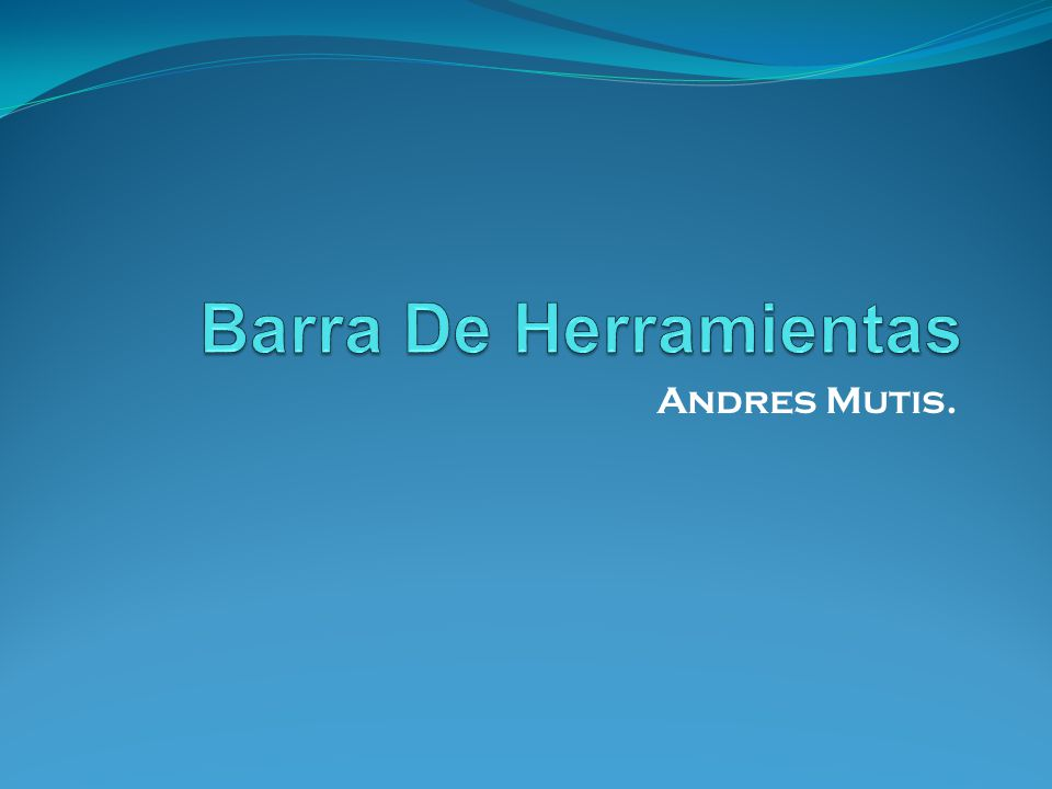 Andres Mutis.
