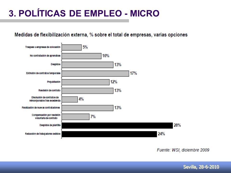 Sevilla, 28-6-2010 3. POLÍTICAS DE EMPLEO - MICRO
