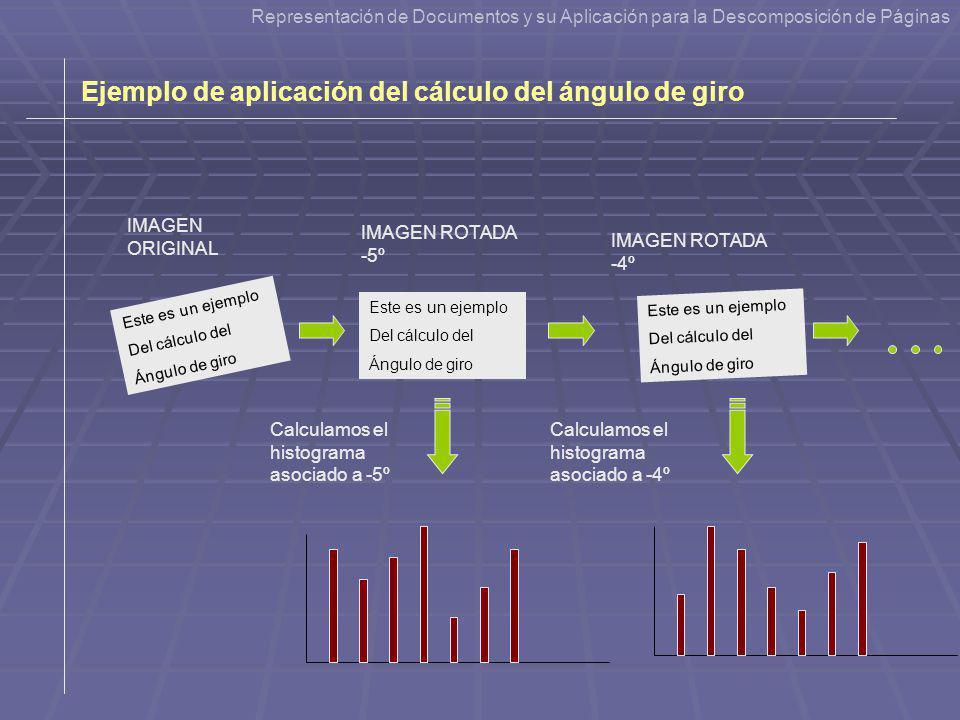 Este es un ejemplo Del cálculo del Ángulo de giro Este es un ejemplo Del cálculo del Ángulo de giro IMAGEN ORIGINAL IMAGEN ROTADA -5º Calculamos el hi