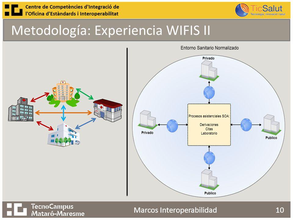 Metodología: Experiencia WIFIS II Marcos Interoperabilidad10