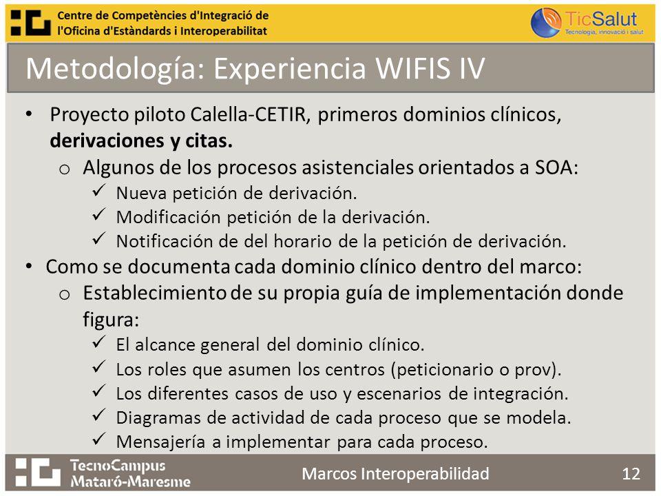 12 Proyecto piloto Calella-CETIR, primeros dominios clínicos, derivaciones y citas.