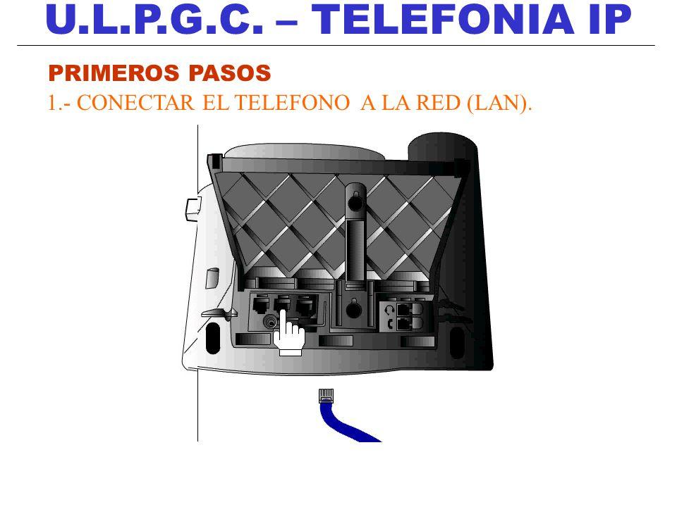 U.L.P.G.C.– TELEFONIA IP 5.- Llamada a tres (máx.