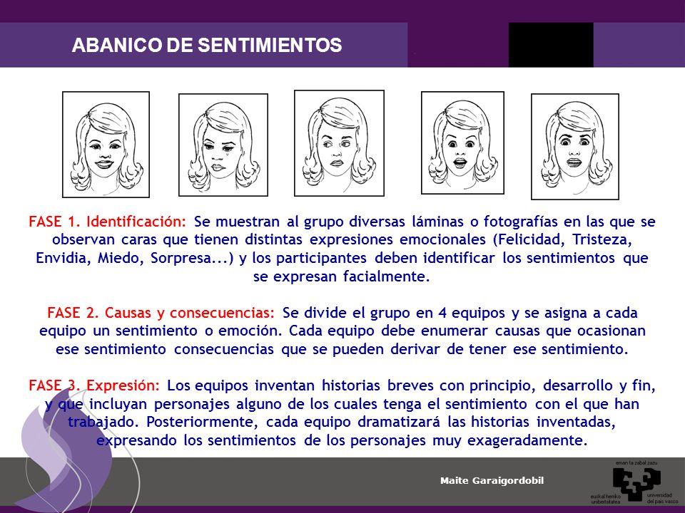 Maite Garaigordobil ABANICO DE SENTIMIENTOS FASE 1.