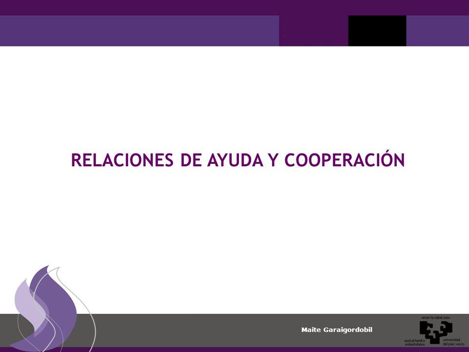 Maite Garaigordobil RELACIONES DE AYUDA Y COOPERACIÓN