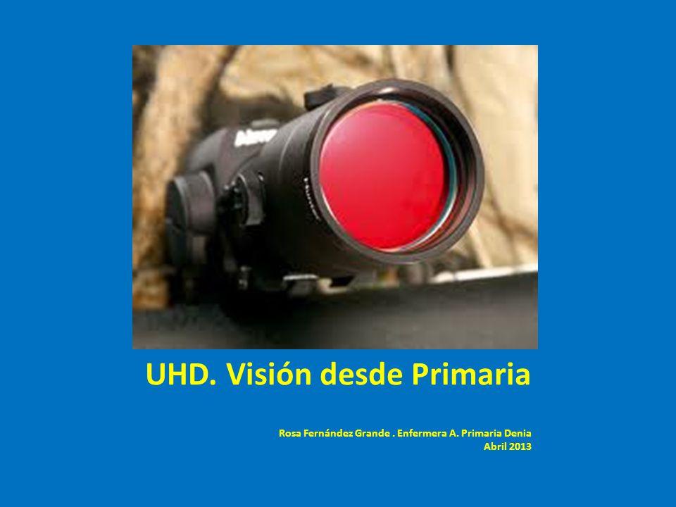 UHD. Visión desde Primaria Rosa Fernández Grande. Enfermera A. Primaria Denia Abril 2013